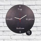 Relógio de Parede Madeira Top Left Right Cor Preto 30x30x2cm - Maisaz