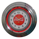 Relógio De Parede Neon Coca Cola Retrô - Versare anos dourados