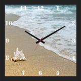Relógio de Parede Personalizado Imagem Concha do Mar 30x30cm - Decore pronto