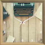 Relógio de Parede Personalizado Objetos Antigos 30x30cm - Decore pronto