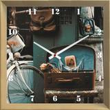 Relógio de Parede Personalizado Vintage 30x30cm - Decore pronto