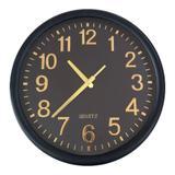 Relógio De Parede Preto/Dourado Decorativo Redondo 35x4CM - Mart collection