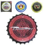 Relogio de parede redondo cerveja modelo tampa de garrafa 27cm de ø - Nova alianca