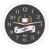 Relogio de Parede Redondo Coffee Preto 21,7CM. - Bells