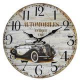 Relógio de Parede Retro Rústico CARRO ANTIGO CBRN01941 - Commerce brasil