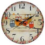 Relógio de Parede Retro Rústico CORUJAS CBRN01903 - Commerce brasil