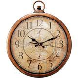 Relógio De Parede Vintage Bússola Dourado - Versare anos dourados