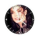 Relógio Decorativo Michael Jackson Rosto Color - All classics