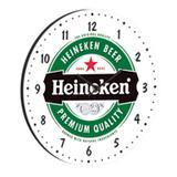 Relógio Decorativo Redondo 35cm BW Quadros Verde