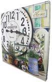 Relogio Parede Grande Vintage Retro Deco Vasos de Plantas Kensington (XIN-05) - Braslu
