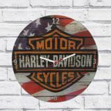 Relógio Parede Sala Decorativo Harley Davidson Pulso 30x30x2cm - Maisaz