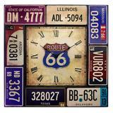 Relógio Route 66 Placas Vintage - Versare anos dourados