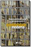 Responsabilidade penal das corporacoes e criminali - Saraiva