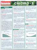 Resumão Exatas - Cálculo - 2 - Barros fischer  associados