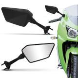 Retrovisor Moto Esportivo Modelo Ninja 250 R Carenada Universal Preto - St