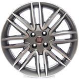 Roda Krmai R14 ( Fiat Punto ) Aro 17x7 Grafite Diamantado