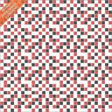 Rolo Adesivo Pastilha Preto Branco e Vermelho - Clickfik