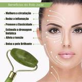 Rolo Massageador Facial Pedra Jade Anti Estresse e Anti Rugas Massoterapia - Ab midia