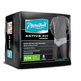 Roupa Intima Active Fit Masculina P/M com 8 Unidades - Plenitud - Kinberly clark