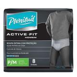 Roupa Íntima Plenitud Active Masculina P/M Com 8 Unidades - Plenitude