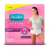 Roupa Íntima Plenitud Active Mulher P/M Com 8 Unidades - Plenitude