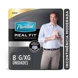 Roupa Intima Plenitud Real Fit Homem G/XG - 8 unidades