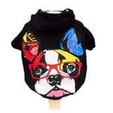 Roupinha roupa  Moletom estampa Bulldog Azul Marinho M - Malloo moda pet