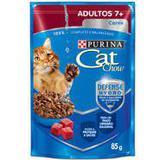Sachê Cat Chow Carne para Gatos Adultos +7 - Purina