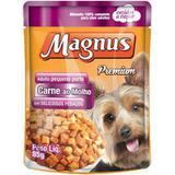 Sache Magnus Carne para Cães Adulto de Pequeno Porte 85 g - Magnus, adimax pet