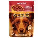 Sachês Special Dog 100g Sabor Carne ao Molho Caixa com 12 Unidades