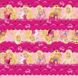 Saco P/Presente Barbie Bichinhos Rosa 20X29Cm C/40 Un. - Cromus