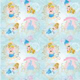 Saco P/Presente Cinderela Princesas Disney 31,5X22 40Unid. - Cromus