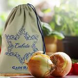 Saco para alimentos  algodão   Cebola - Gadebags