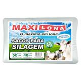 Saco para silo- 51 x 100cm branco referencia 200 micras fardo 50un - Maxilona
