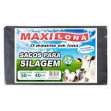 Saco para silo- 51 x 100cm preto referencia 200 micras fardo 50un - Maxilona