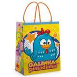 Sacola P/Presente Galinha Pintadinha Azul 26X19,5Cm C/10 - Cromus