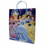 Sacola Plástica Grande Princesas Azul - Festabox