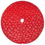 Saia P/ Base Pé Da Árvore De Natal Neve 120Cm Vermelha - Cromus