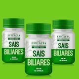 Sais Biliares 300 mg - 60 cápsulas (KIT com 03 potes) - Farmácia eficácia