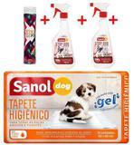 Seca Xixi + 2 Educadores Sanitário Canino + Tapete Higiênico - Sanol