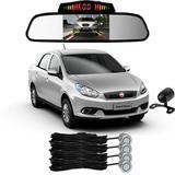 Sensor De Ré+ Espelho Camera Ré Fiat Grand Siena Prata - Overvision