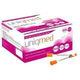 Seringa para insulina  0,3 ml 6x0,25mm 100un uniqmed