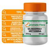 Silimarina 300mg + Metionina 50mg 60 Cápsulas - Extrato flora