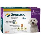 Simparic 10 mg Antipulgas e Carrapatos para cães 2,6 a 5 kg - 1 Compr - Zoetis