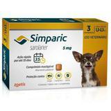 Simparic 1,3 a 2,5kg 5mg 3 comprimido - Zoetis