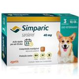 Simparic 40mg Anti Pulga e Carrapato Cães de 10 a 20kg 3 comprimidos - Zoetis