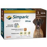Simparic anti pulgas 120 mg 40,1 a 60 kg 01 comprimido - Marca