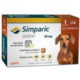 Simparic anti pulgas 20 mg 5,1 a 10 kg 01 comprimido - Marca
