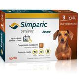 Simparic Antipulgas Para Cães De 5,1 A 10kg - 20mg - Cx Com 3 Compr - Zoetis