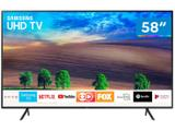 "Smart TV 4K LED 58"" Samsung UN58NU7100GXZD - Wi-Fi Conversor Digital 3 HDMI 2 USB"